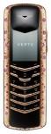 Vertu Signature Rose Gold Pink Sapphires mobile phone