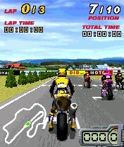 3D Moto Racer - Symbian game screenshots. Gameplay 3D Moto Racer
