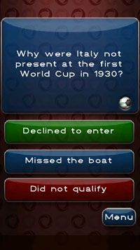 Football Quiz - Symbian game screenshots. Gameplay Azzurri Football