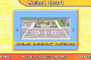 Backyard Sports Basketball 2007 - Symbian game screenshots. Gameplay Backyard Sports Basketball 2007