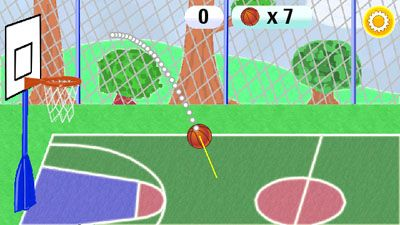 Basketball Mobile - Symbian game screenshots. Gameplay Basketball Mobile
