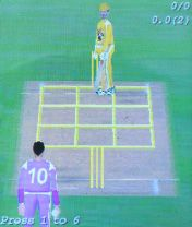 Cricket 3D - Symbian game screenshots. Gameplay Cricket 3D