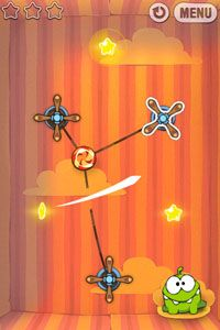 Cut the Rope - Symbian game screenshots. Gameplay Cut the Rope