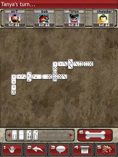 Dominoes - Symbian game screenshots. Gameplay Dominoes