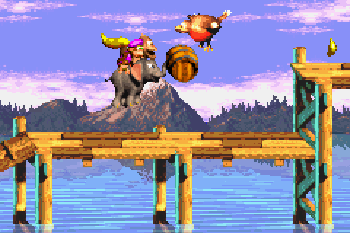 Donkey Kong Country 3 - Symbian game screenshots. Gameplay Donkey Kong Country 3