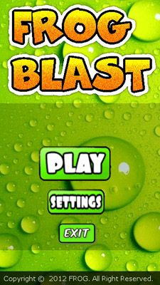 Frog Blast - Symbian game screenshots. Gameplay Frog Blast