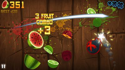 Fruit Ninja - Symbian game screenshots. Gameplay Fruit Ninja