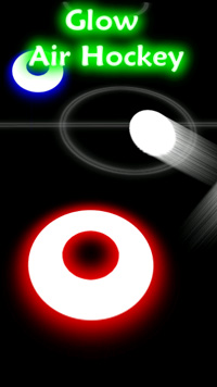 Glow Air Hockey - Symbian game screenshots. Gameplay Glow Air Hockey