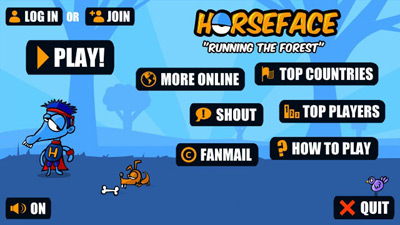 Horseface running the forest - Symbian game screenshots. Gameplay Horseface running the forest