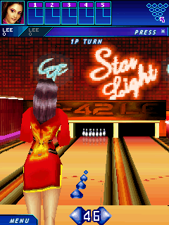 Midnight bowling 3D - Symbian game screenshots. Gameplay Midnight bowling 3D