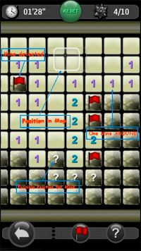 MineSweeper - Symbian game screenshots. Gameplay MineSweeper