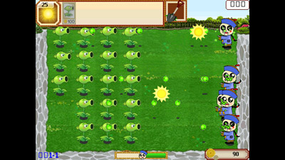Plants vs. Zombies - Symbian game screenshots. Gameplay Plants vs. Zombies