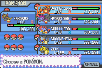 Pokemon Light Platinum - Symbian game screenshots. Gameplay Pokemon Light Platinum