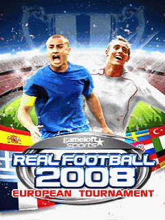 Real Football 2008 European Tournament - Symbian game screenshots. Gameplay Real Football 2008 European Tournament