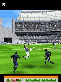 Real football 2009 3D - Symbian game screenshots. Gameplay Real football 2009 3D