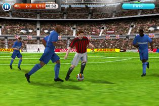 Real football 2010 HD - Symbian game screenshots. Gameplay Real football 2010 HD