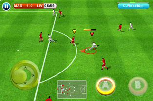 Real football 2010 HD - Symbian game screenshots. Gameplay Real