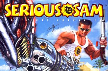 Serious Sam Advance download free Symbian game. Daily updates with the best sis games.