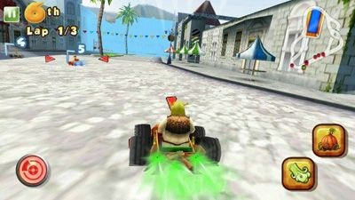 Shrek Karting HD - Symbian game screenshots. Gameplay Shrek Karting HD