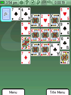 Solitaire - Symbian game screenshots. Gameplay Solitaire