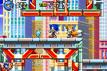 Sonic Advance 3 - Symbian game screenshots. Gameplay Sonic Advance 3