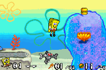 SpongeBob Battle for Bikini Bottom - Symbian game screenshots. Gameplay SpongeBob Battle for Bikini Bottom