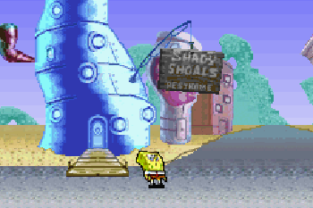 SpongeBob SquarePants: SuperSponge - Symbian game screenshots. Gameplay SpongeBob SquarePants: SuperSponge