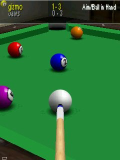 Virtual Pool Mobile - Symbian game screenshots. Gameplay Virtual Pool Mobile