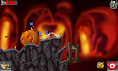 Worms HD - Symbian game screenshots. Gameplay Worms HD